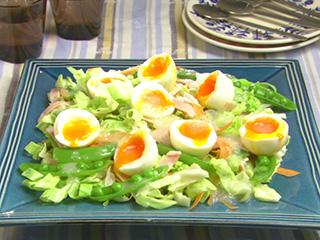 卵 キャベツ サラダ
