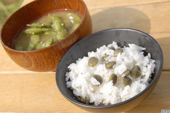3 合 ご飯 豆