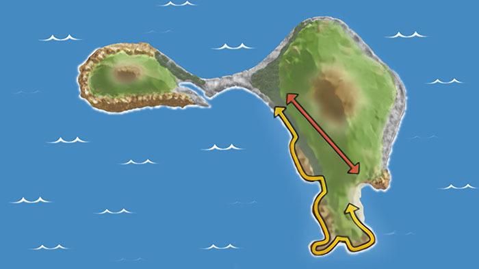 ダッシュ 島 場所