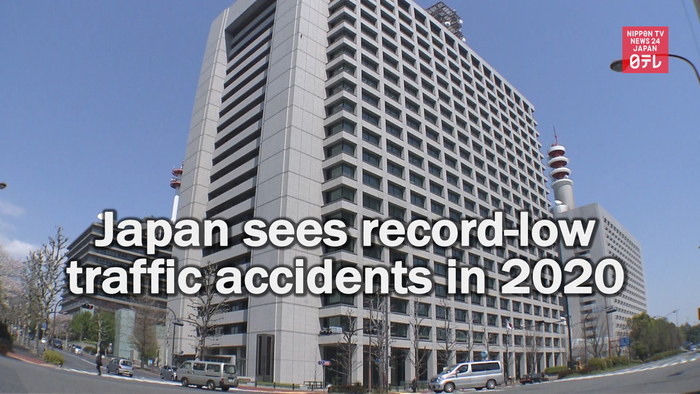 Record-low traffic accidents in Japan in 2020