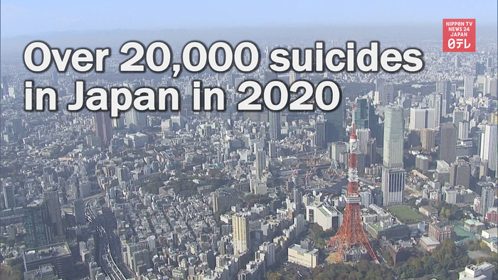 Over 20,000 suicides in Japan in 2020