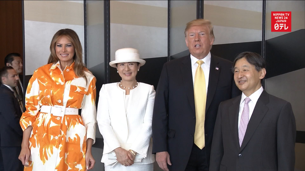 Trump bids farewell to Emperor Naruhito