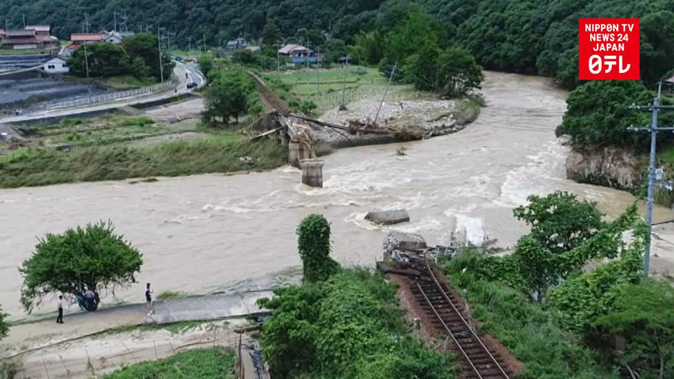 Flooding and landslides leave railroads paralyzed