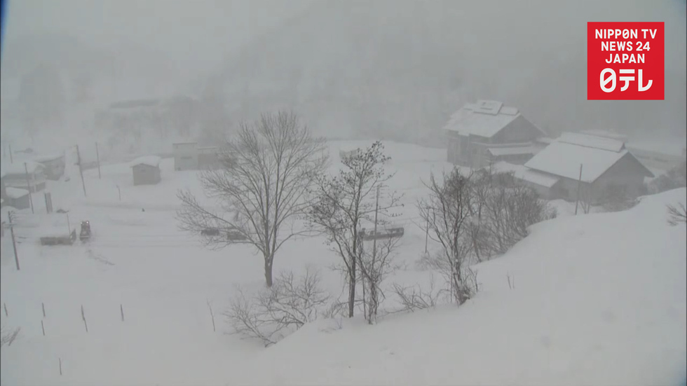Snow blankets Japan
