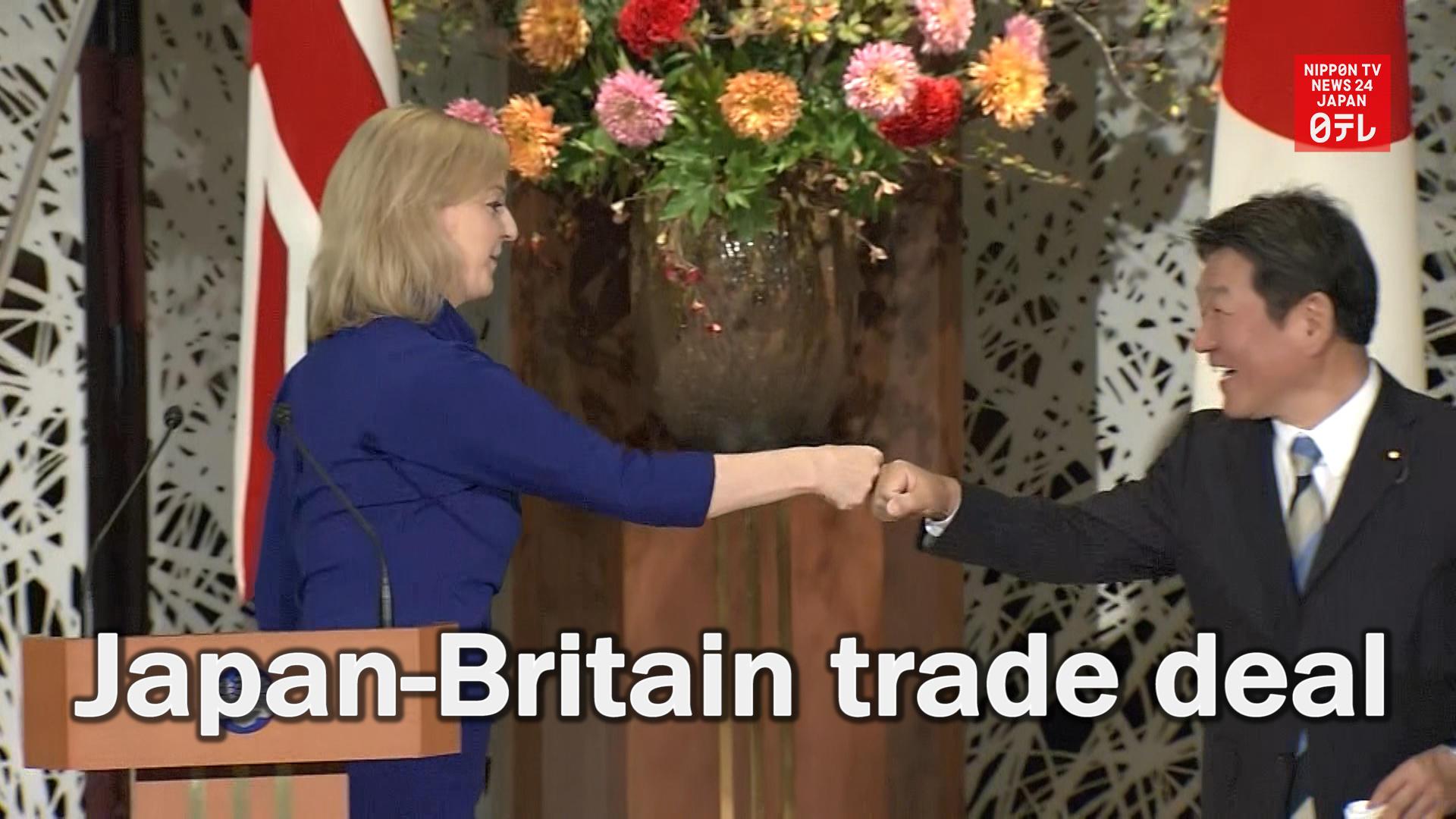 Japan, Britain sign trade deal