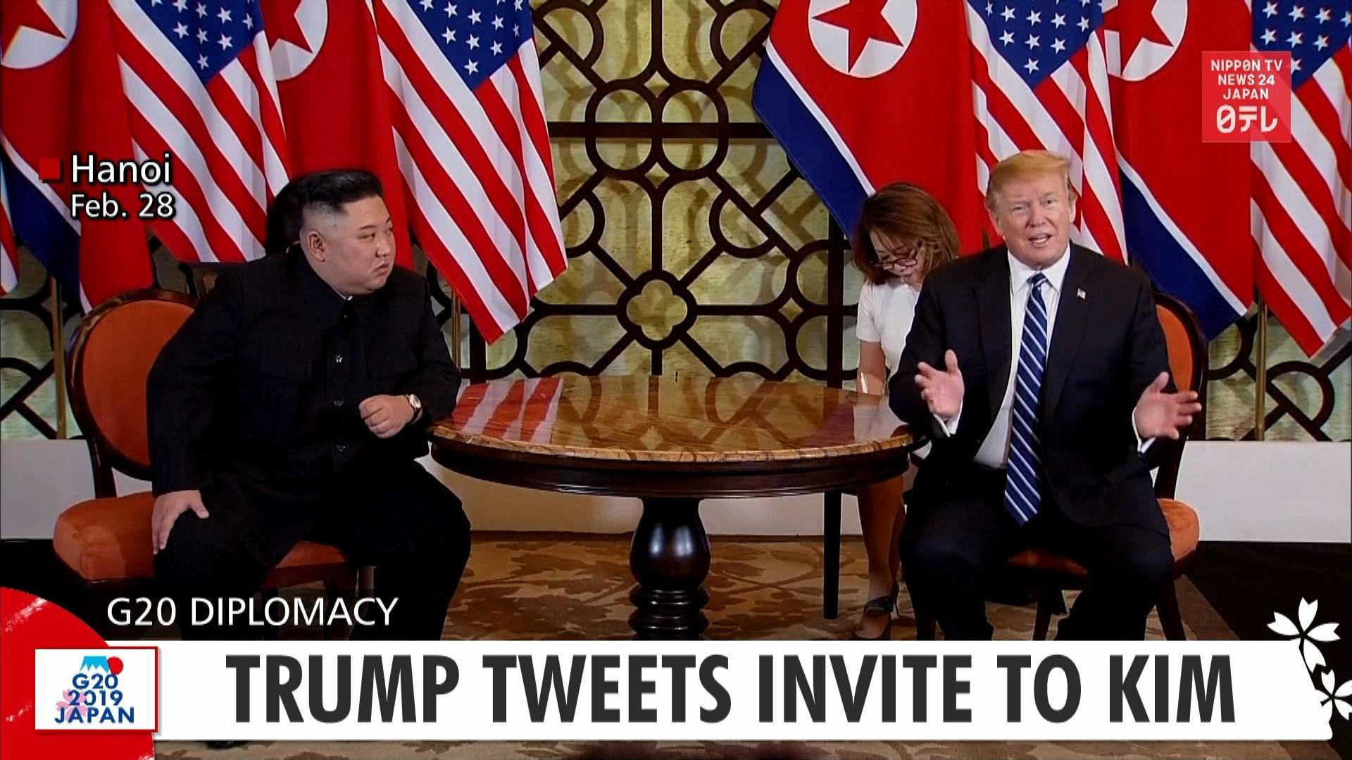 G20: Trump tweets to invite Kim