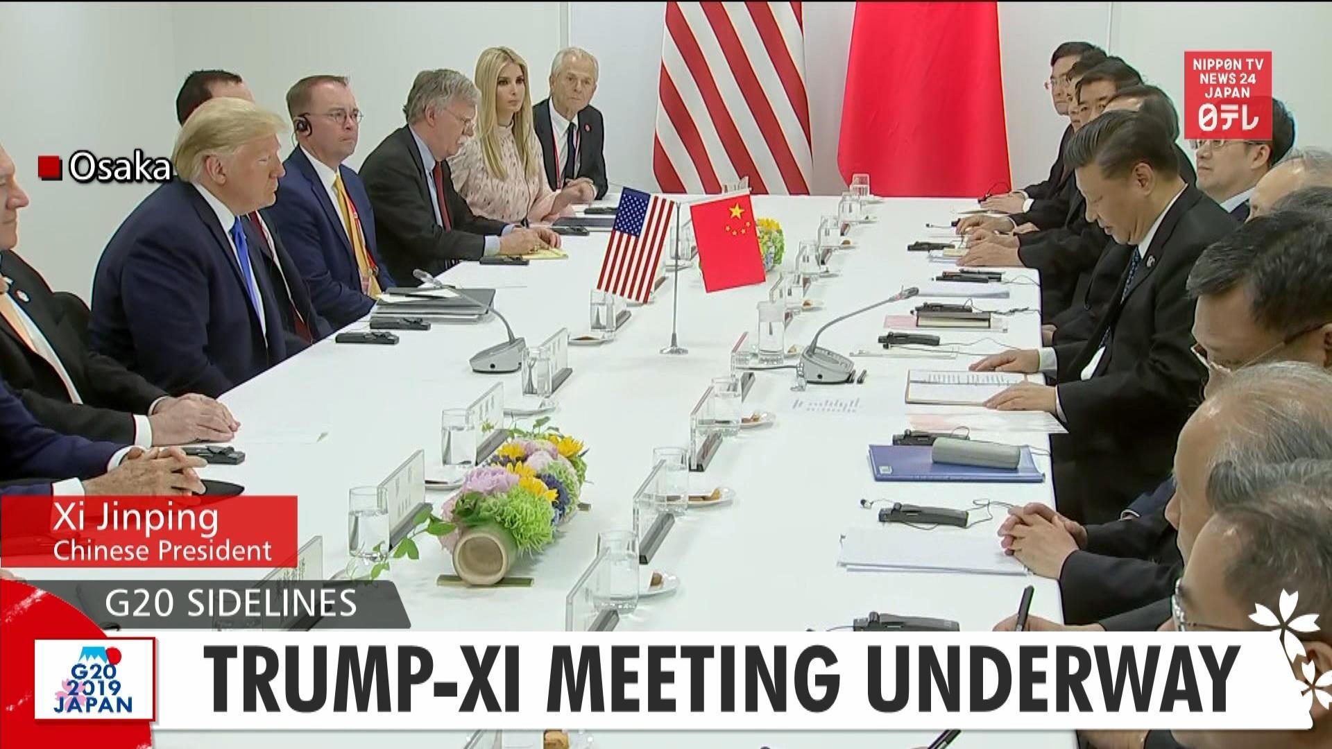 G20: Trump-Xi meeting underway
