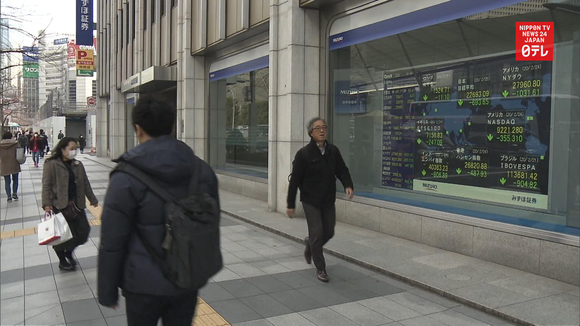 CORONAVIRUS: Tokyo stocks plunge