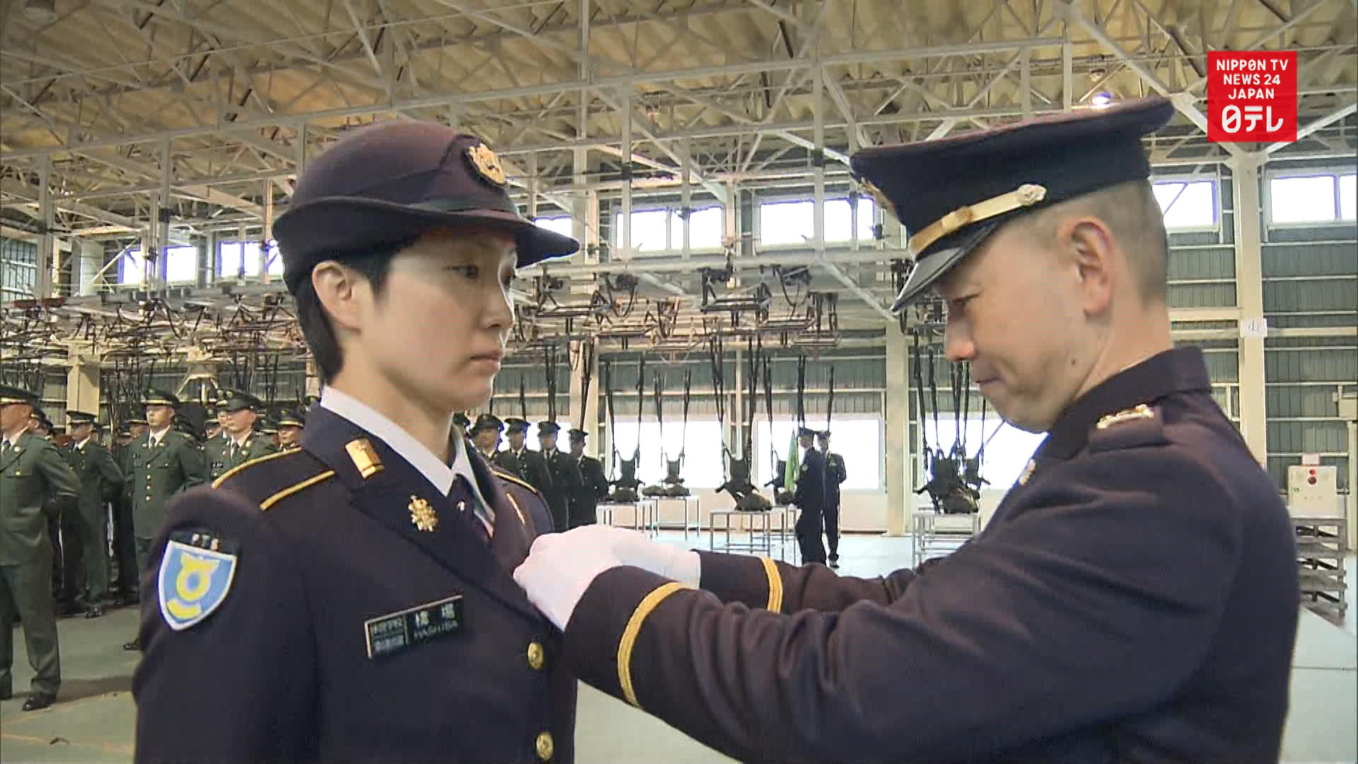 Japan's 1st female paratrooper