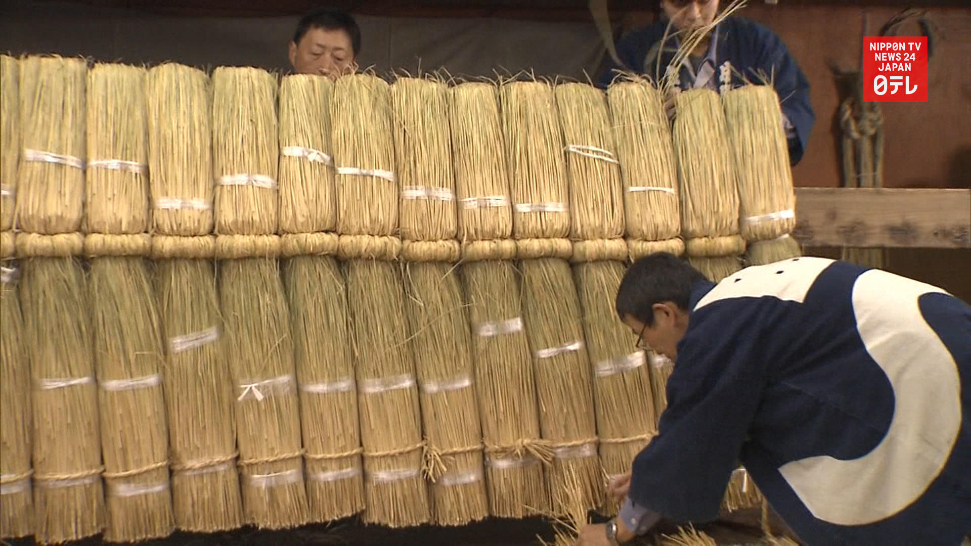 Buddhist temple's 6m rope decoration