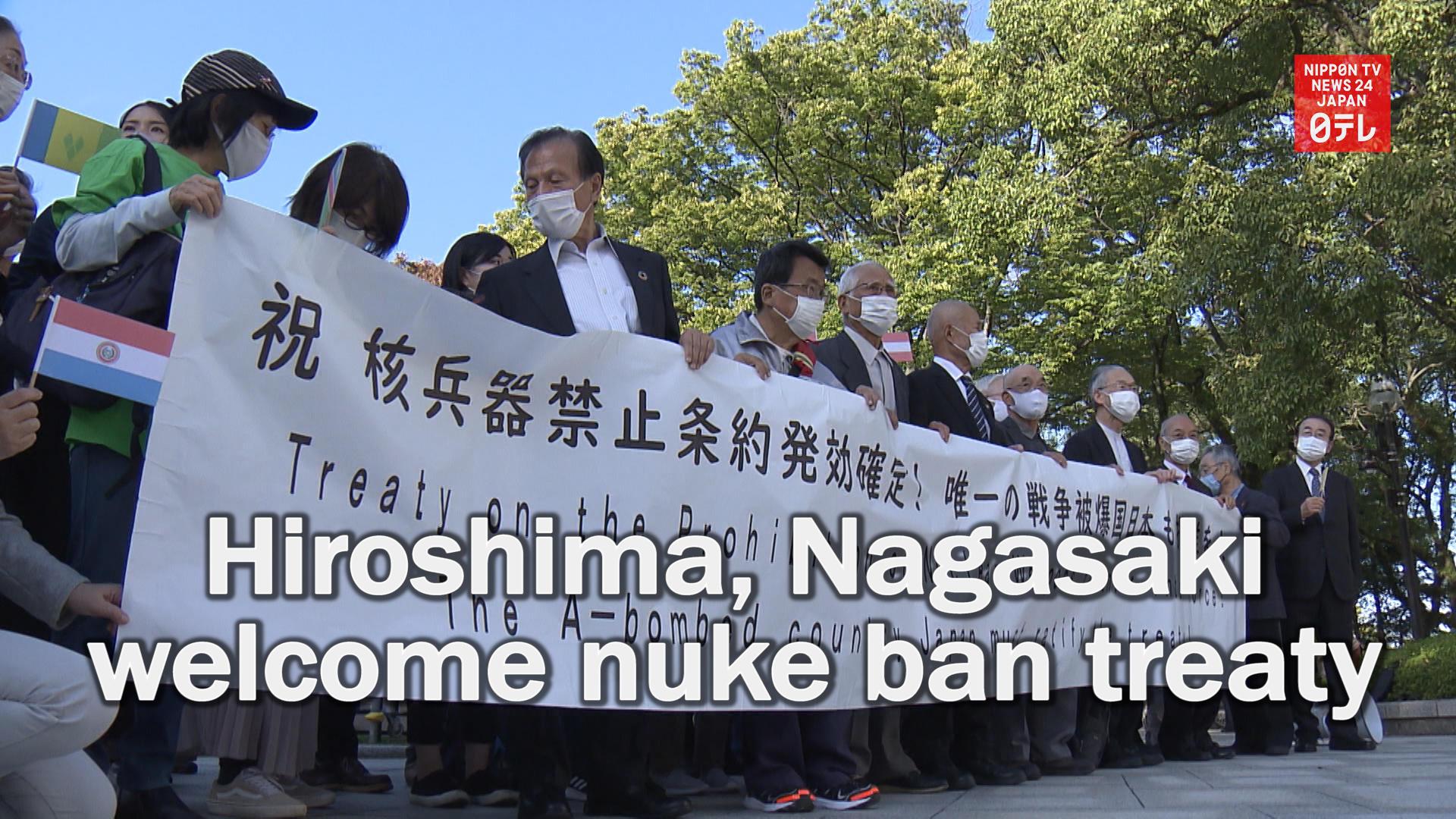 Hiroshima, Nagasaki welcome nuclear ban treaty