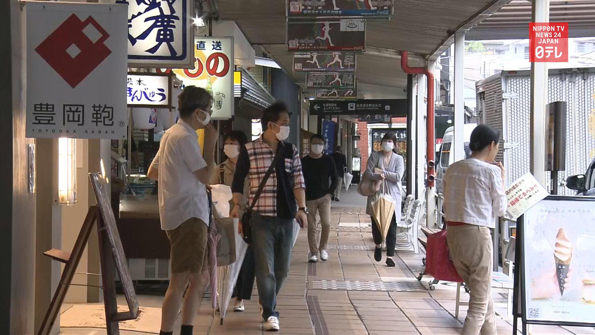 Some visitors back at Japan's tourist destinations