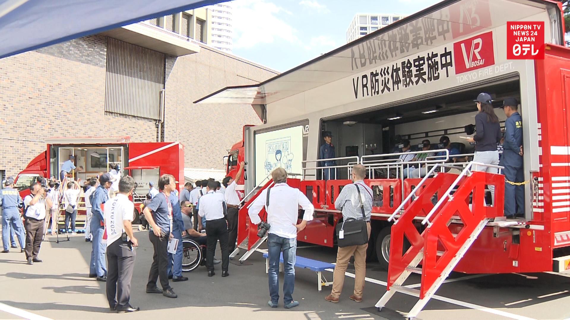 Paralympians test Japan's major quake