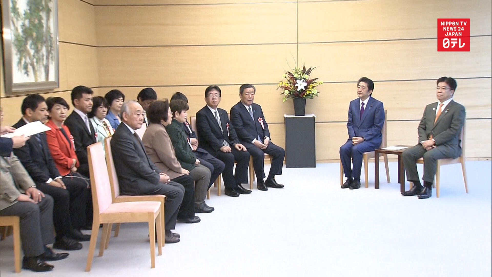 PM Abe meets with families of former leprosy patients