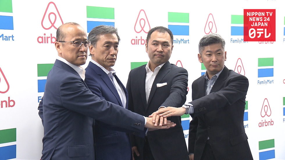 Airbnb teams up with FamilyMart