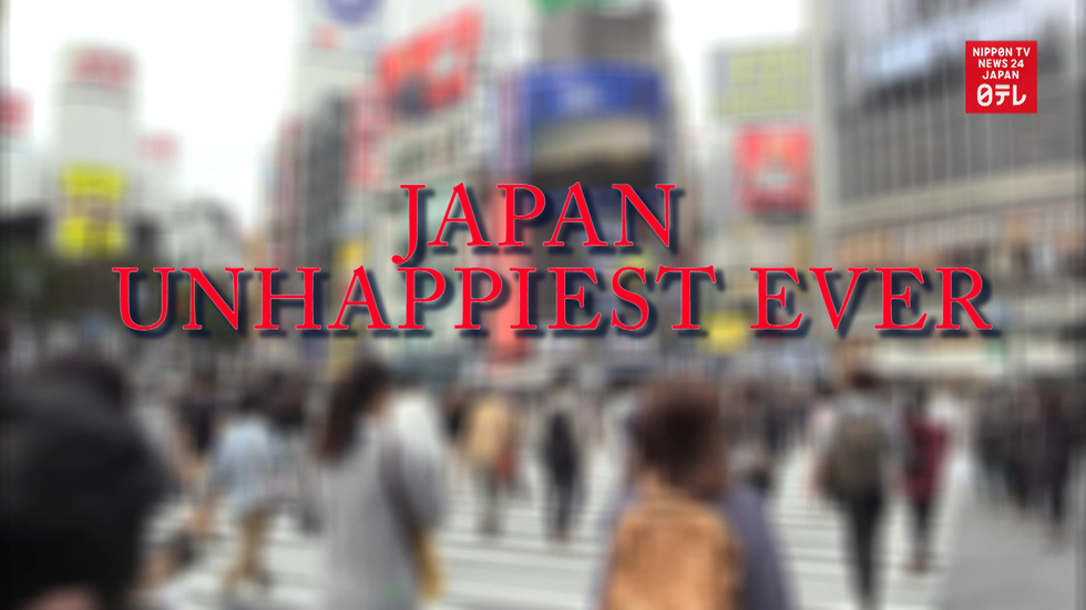 Japan is the unhappiest it's ever been
