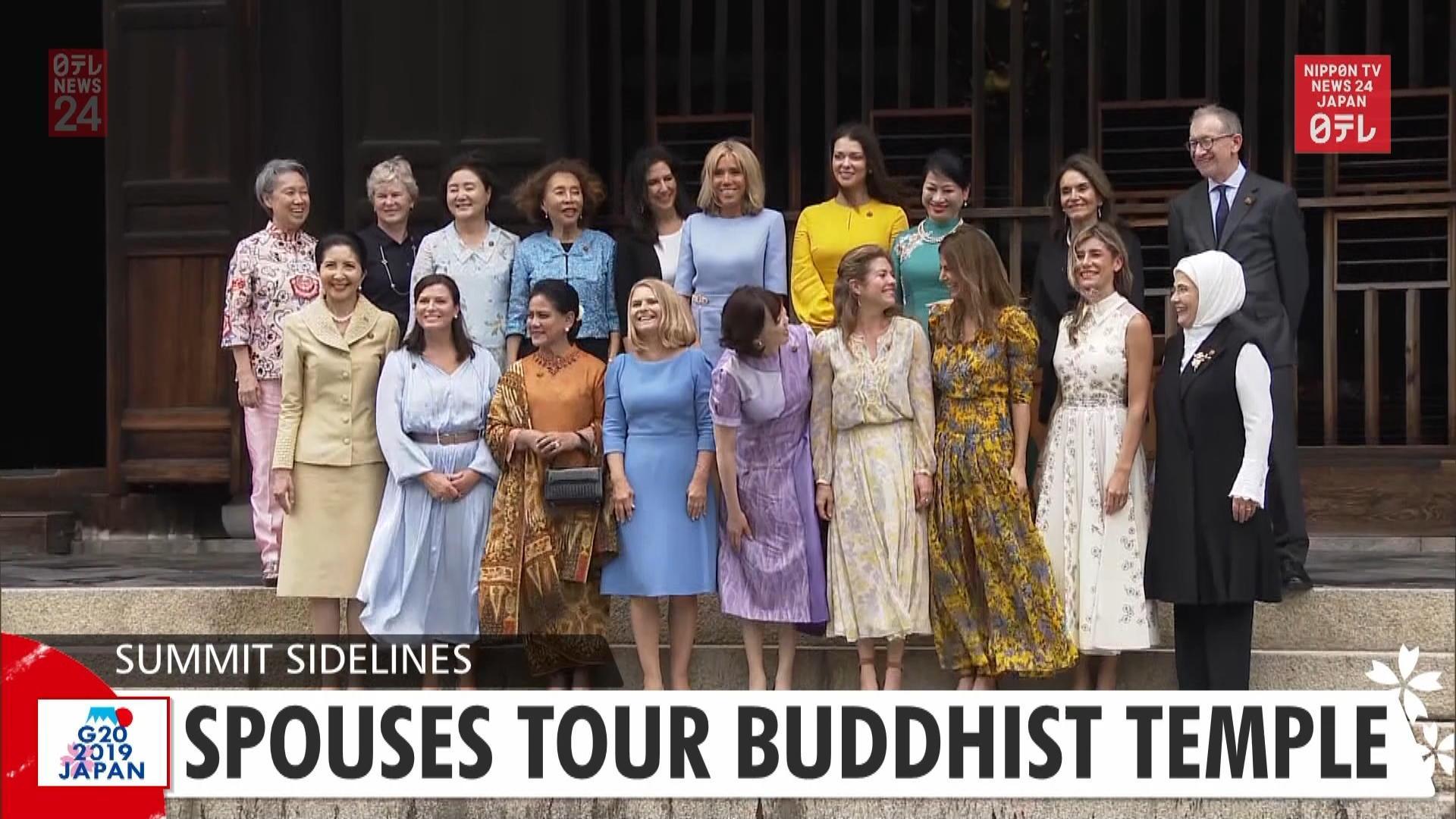 G20: Spouses tour Buddhist temple