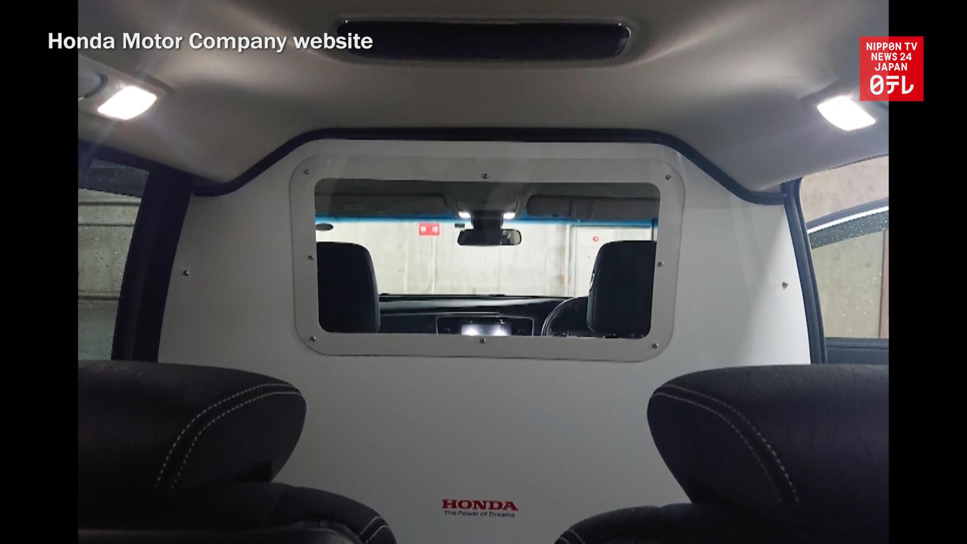 Honda provides modified cars to transport coronavirus patients