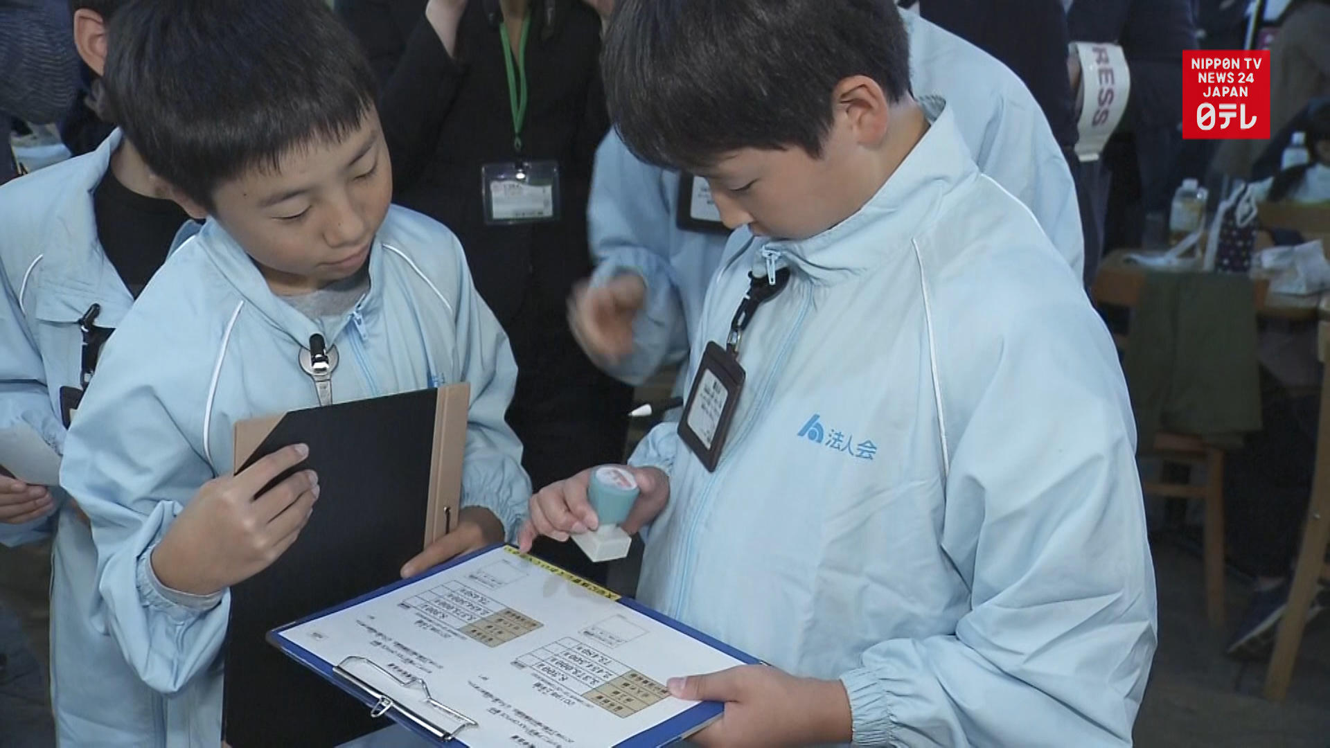 Kids get a taste of tax collecting
