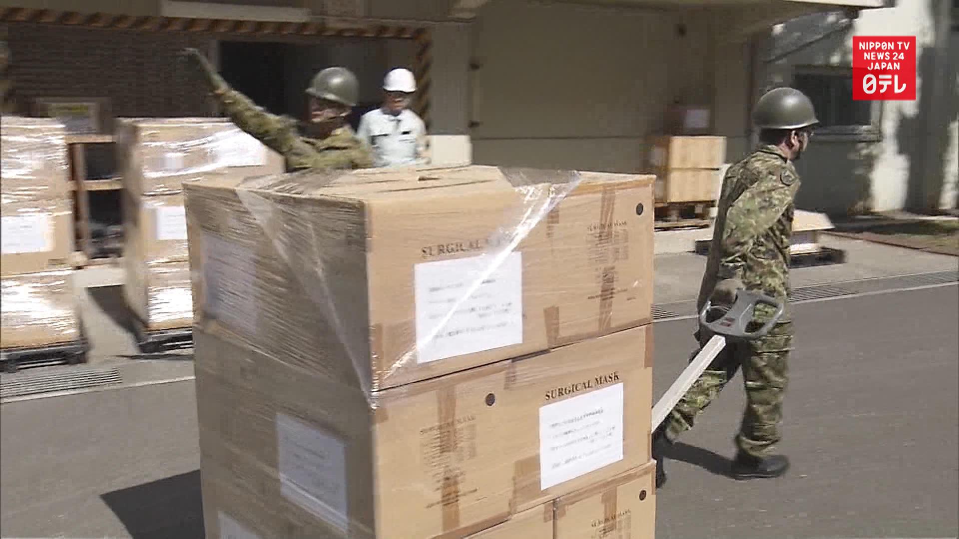 SDF delivers 350,000 masks to govt.