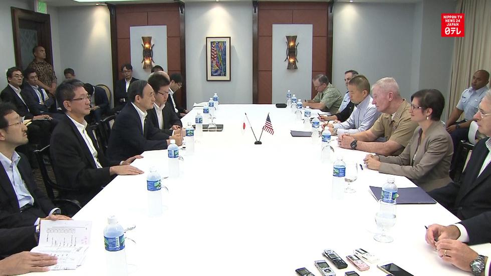 Suga seeks U.S. cooperation