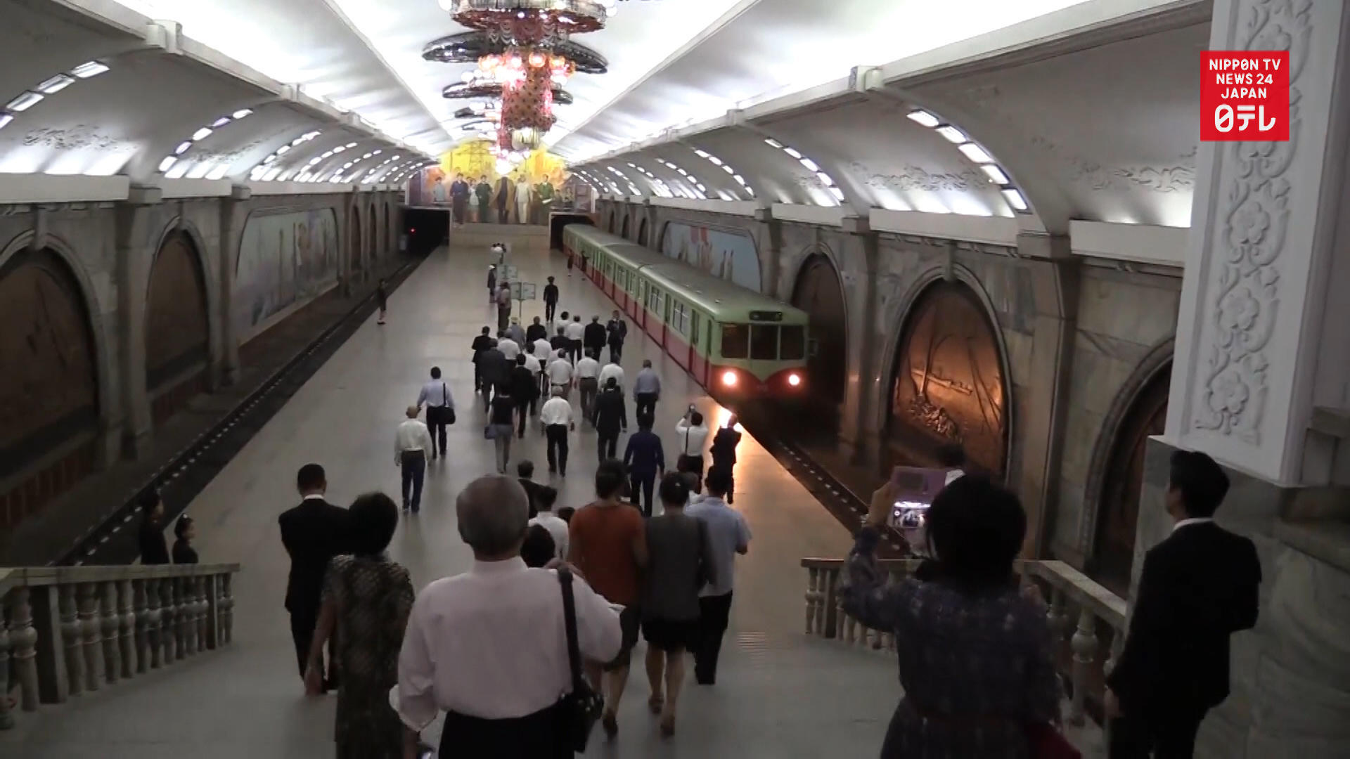 Video of diplomatic ceremony and subway in North Korea