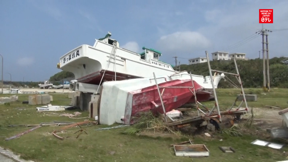 Yonaguni residents begin post-typhoon recovery