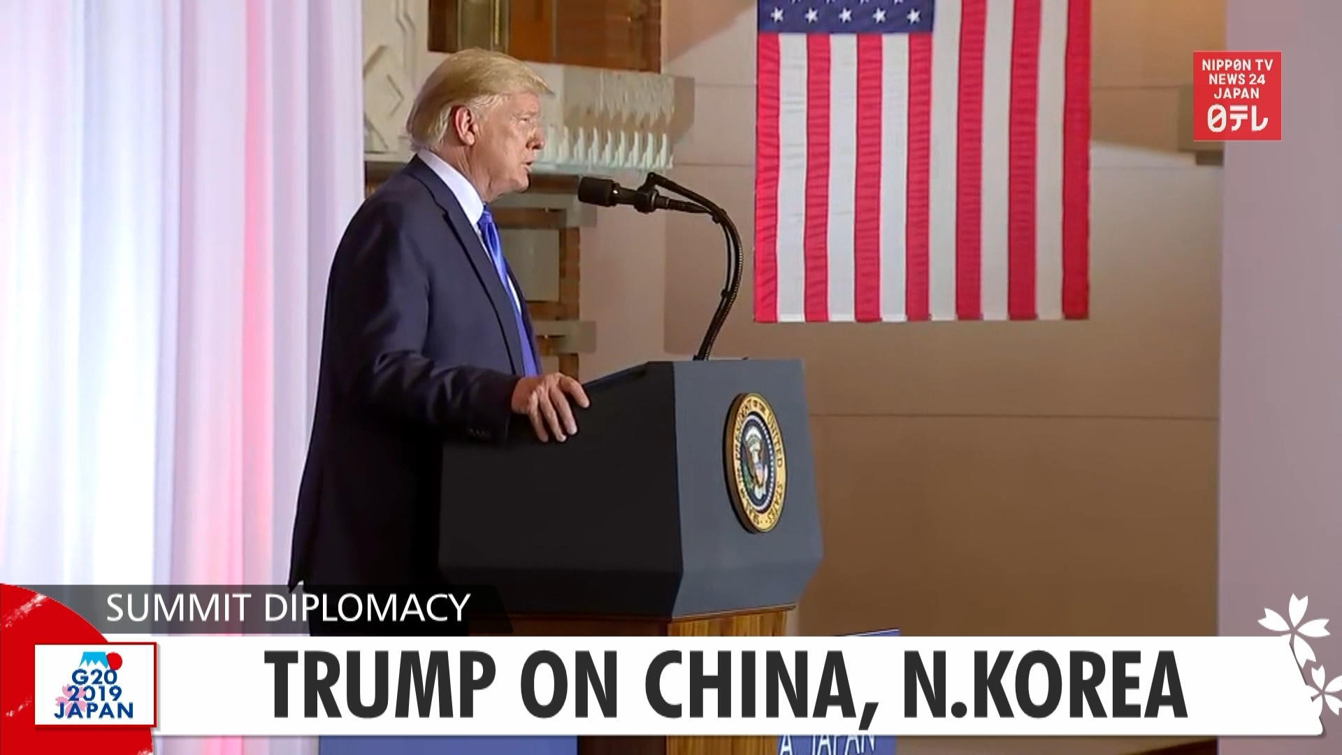 G20: Trump on China, N.Korea