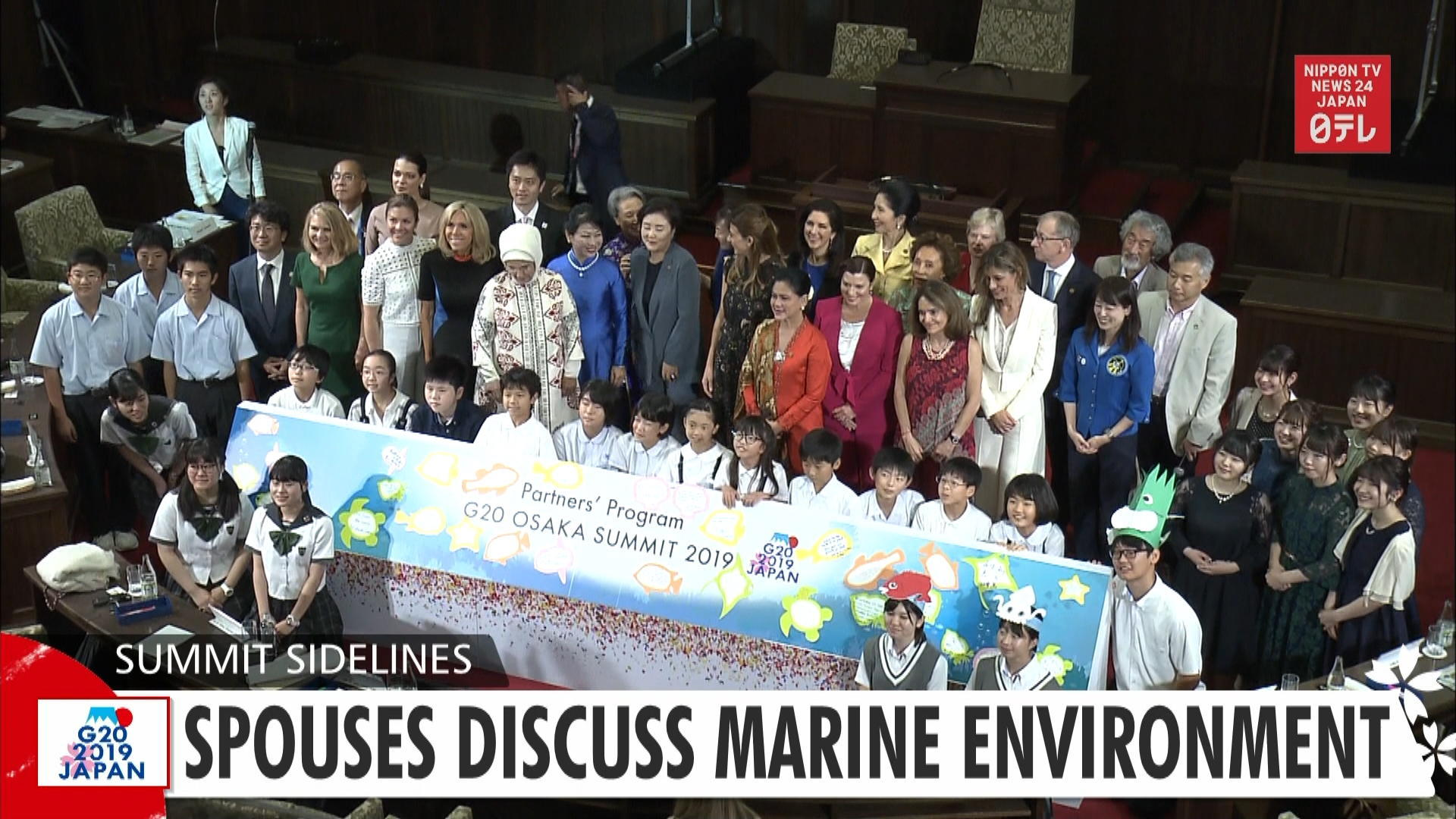 G20: Spouses discuss marine environment