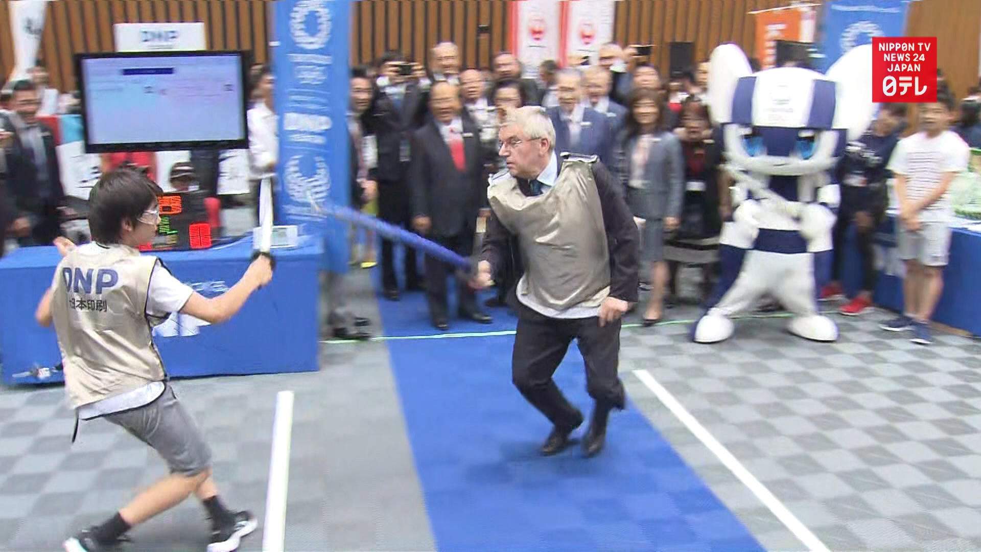 IOC President Bach fences at Tokyo Olympic meeting