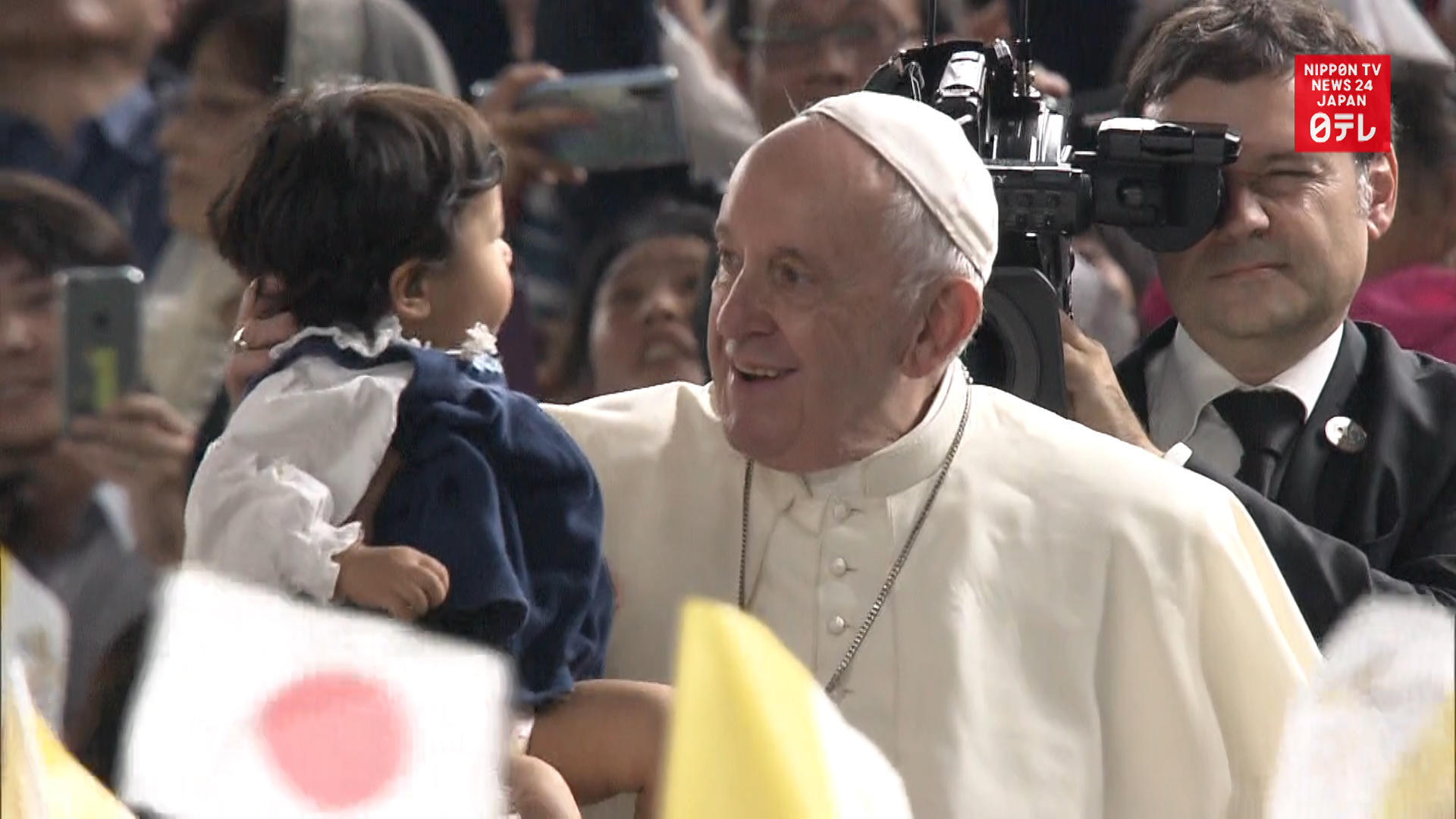 Pope Francis holds mass for 50,000 at Tokyo Dome