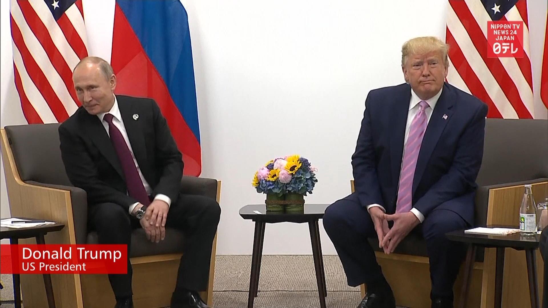G20: Trump, Putin vow to improve ties