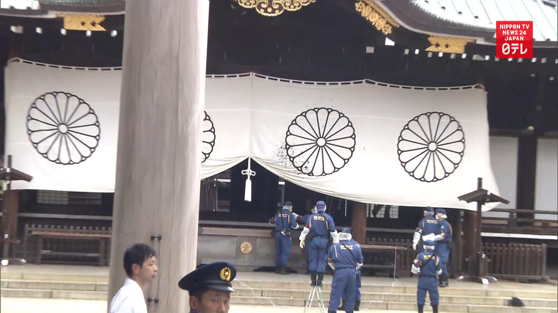Chinese man vandalizes Yasukuni Shrine