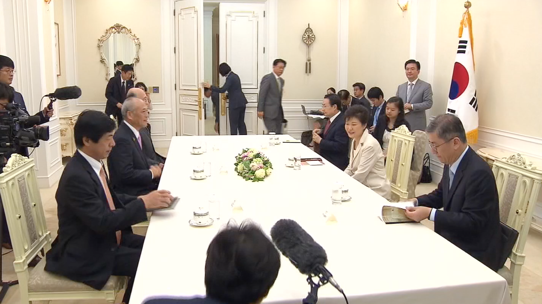 Tokyo governor meets with South Korean president