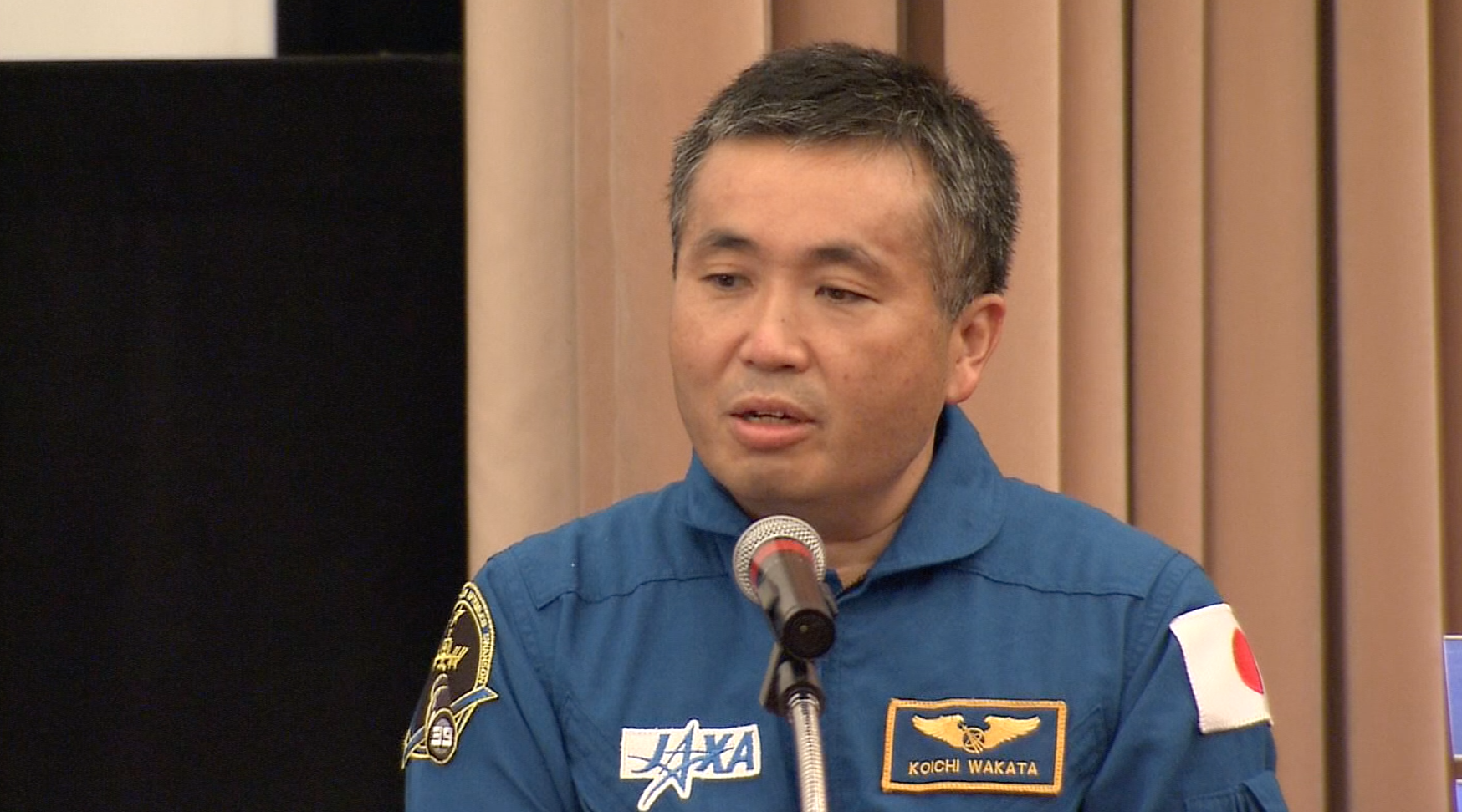 Japanese astronaut talks about mission