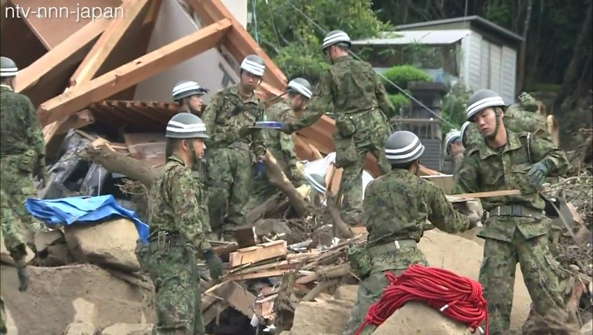 Search for missing continues in wake of Hiroshima landslide