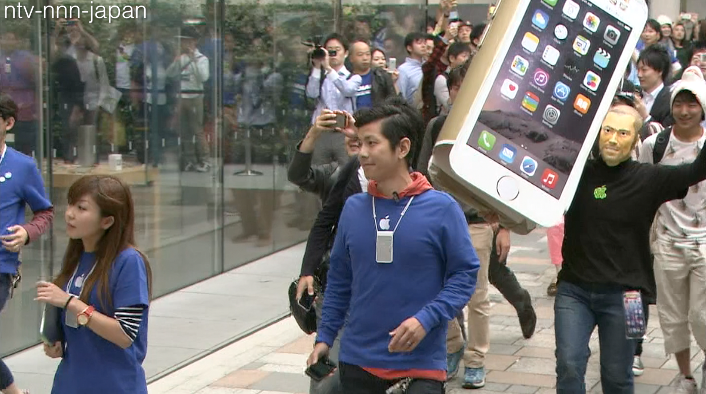 Frenzied reception for iPhone 6