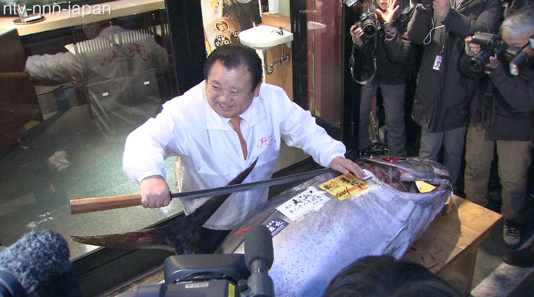 Sushi chain owner drops $40K for year's first tuna